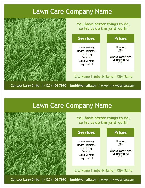 26 best Flyers, Programs, Invitations images on Pinterest Sample - lawn care specialist sample resume