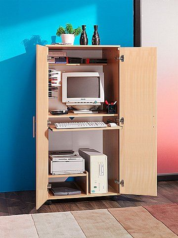 1000 ideas about hideaway computer desk on pinterest folding desk fold up desk and murphy desk - Mobile computer ikea ...