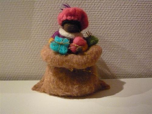 Zwarte Piet in zak