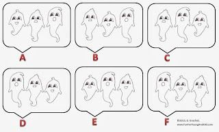Fun For All: Three Ghosts Odd One Out Puzzle