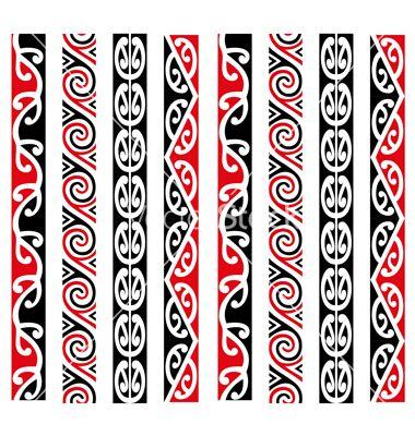 Maori Kowhaiwhai Pattern Design Collection on VectorStock