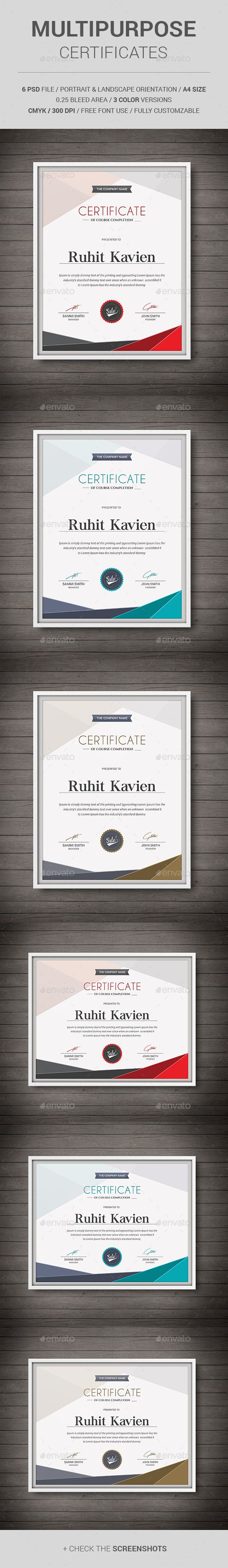Multipurpose Certificates Template PSD. Download here: http://graphicriver.net/item/multipurpose-certificates/11513450?ref=ksioks