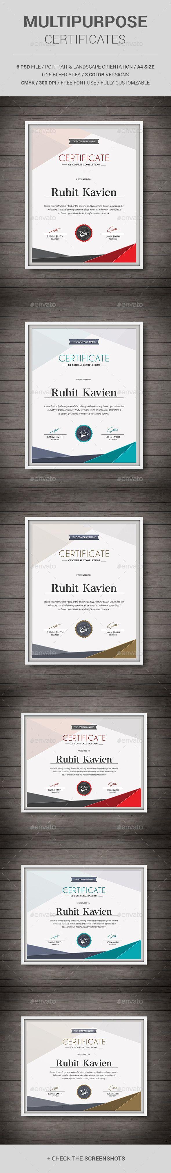 Multipurpose Certificates Template PSD. Download here: http://graphicriver.net/item/multipurpose-certificates/11513450?ref=ksioks