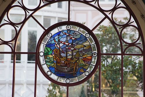 Pirate Ship Stained Glass Window For The Home