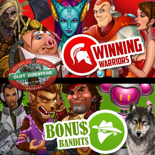Outbet! Outspin! Outplay! Out Now!  #PickYourTribe and support your team!   Which one is going to be? #WinningWarriors or #BonusBandits ?