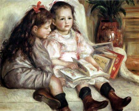 Pierre Auguste Renoir - Retrato de dos chicas