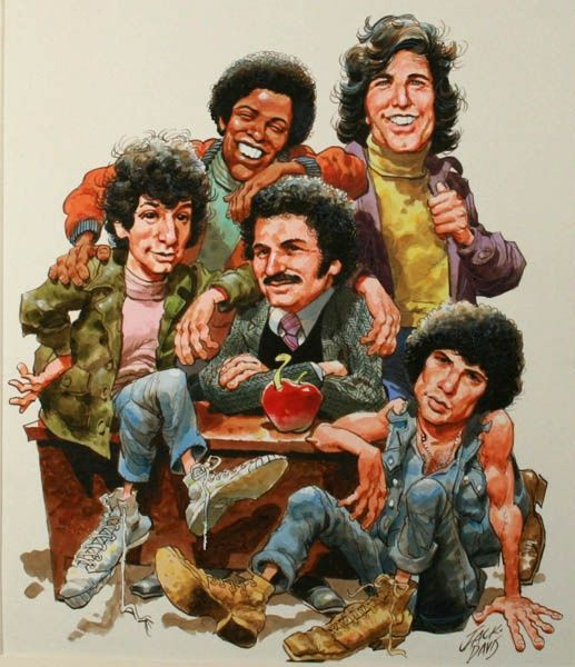 #Welcome_Back_Kotter #caricatures. 60's T.V. show.     For more great pins go to @KaseyBelleFox