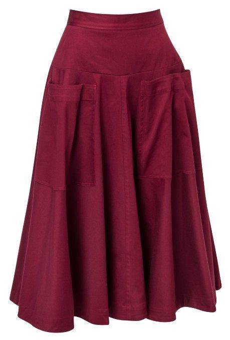 J. Peterman Women's Big Pocket Skirt at Amazon Women's Clothing store