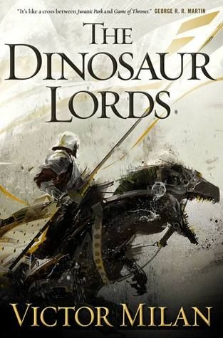 Cover Reveal: The Dinosaur Lords by Victor Milán -On sale July 2015 -A world made by the Eight Creators on which to play out their games of passion and power, Paradise is a sprawling, diverse, often brutal place. Men and women live on Paradise as do dogs, cats, ferrets, goats, and horses. But dinosaurs predominate: wildlife, monsters, beasts of burden – and of war.