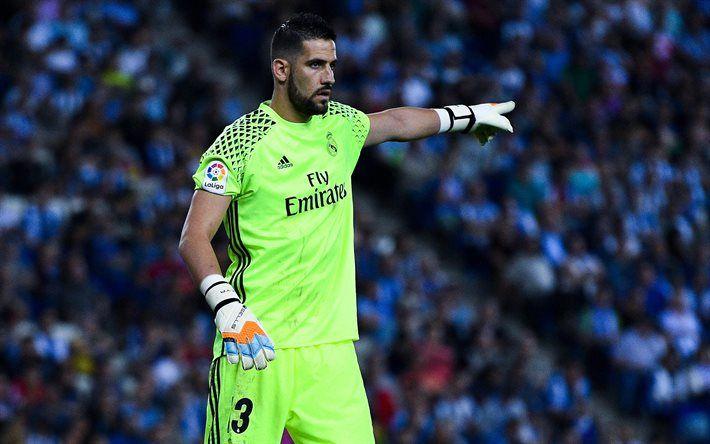 Kiko Casilla, La Liga, 4k, goalkeeper, footballers, Real Madrid