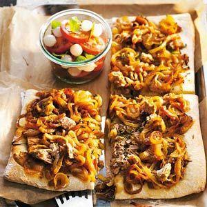 Recept - Zoete uienpizza - Allerhande