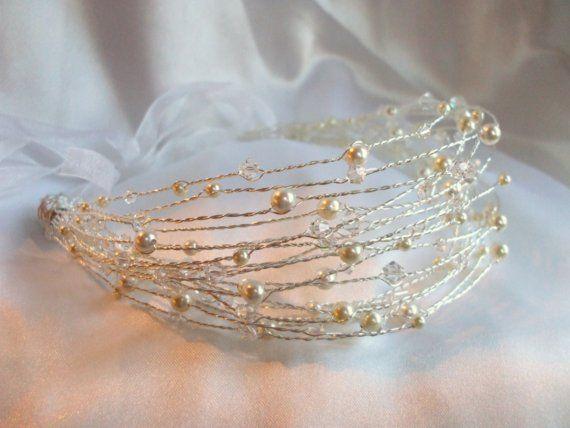 Blossom Multi Stranded Tiara Headband by clairesclassicjewels