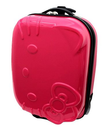 Take a look at this Neon Pink Hello Kitty 15'' Wheeled Carry-On by FAB*Starpoint on #zulily today!