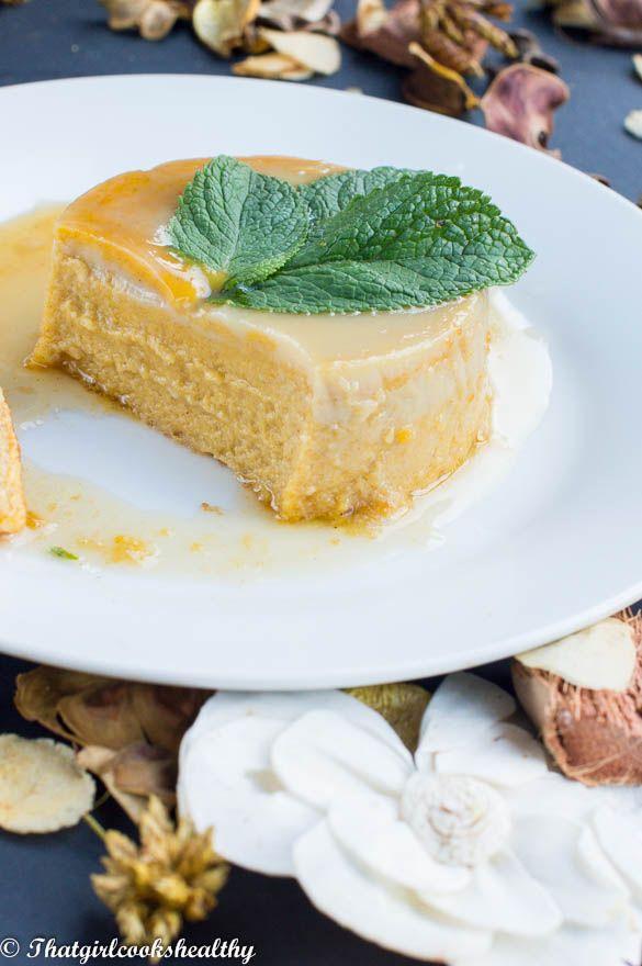 Flan de calabaza (Pumpkin flan) dairy and gluten free