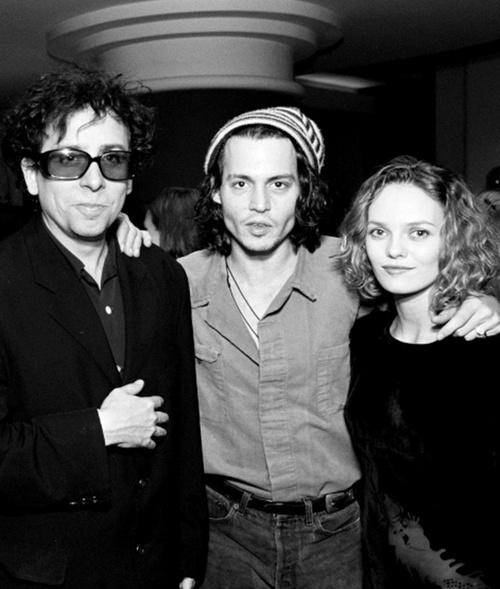 Johnny Depp, Tim Burton & Vanessa Paradis