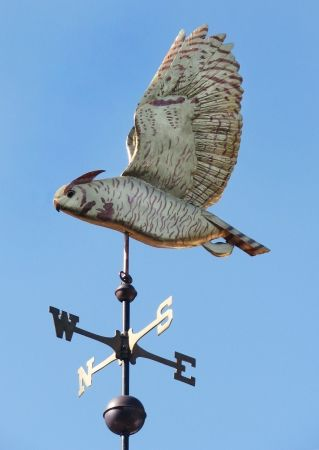 Great Horned Owl Flying Weathervane by West Coast Weather Vanes.