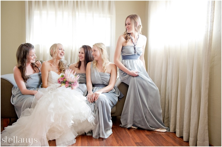 precious moments with my bridesmaids