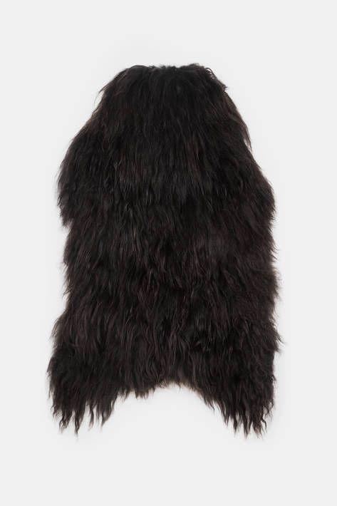 Black Sheep (White Light) — Natural Black Icelandic Sheepskin — THE LINE