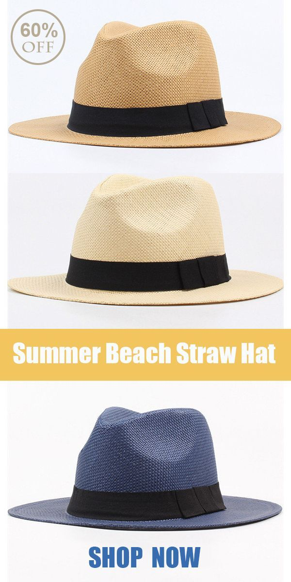 7d48037d Summer Casual Vacation Panama Straw Hat /Beach Sun Hat#summer #outfits # beach