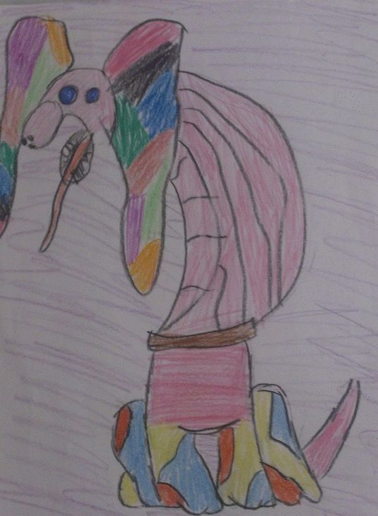 Vasso has also drawn Maria's magical creature'