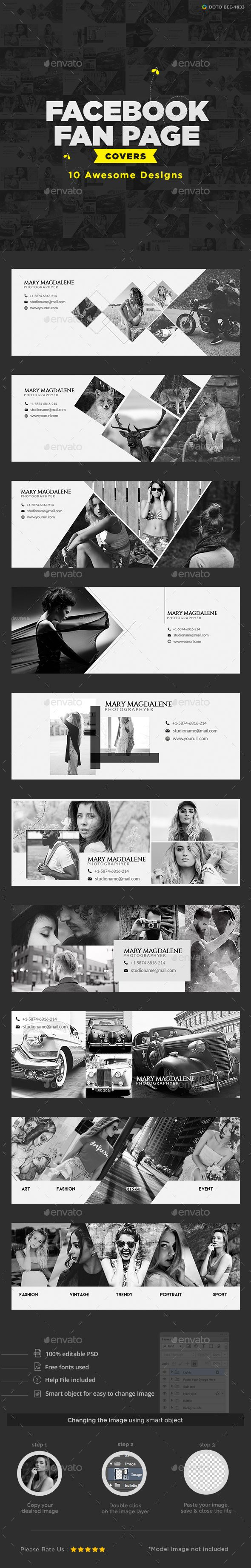Multi Purpose Facebook Covers - 10 Design Templates PSD. Download here: https://graphicriver.net/item/multi-purpose-facebook-covers-10-designs/17520744?ref=ksioks