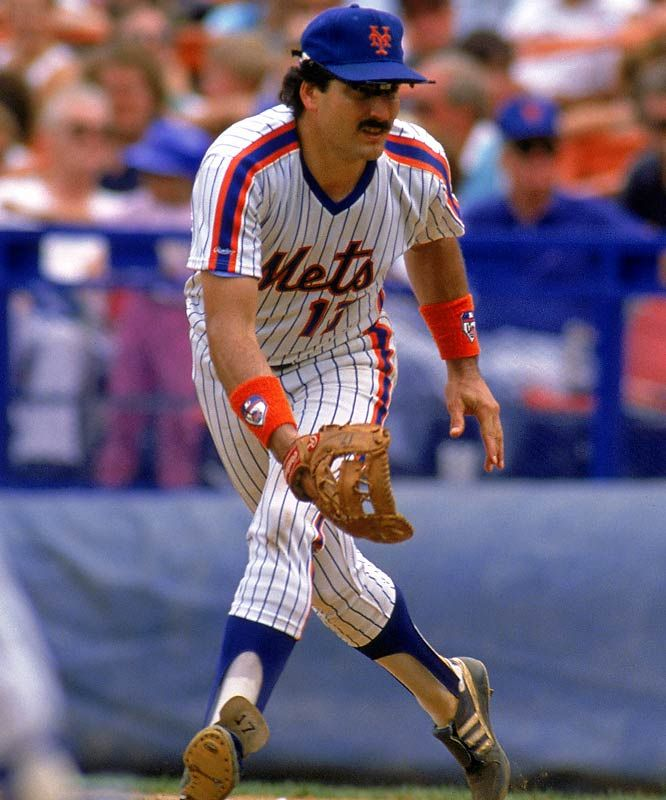 New York Mets (MLB, 1980s): Pinstripes w/ shoulder stripes and stirrups; vibrant colors *plus* Hernandez's mustache - this was a great 80s look!
