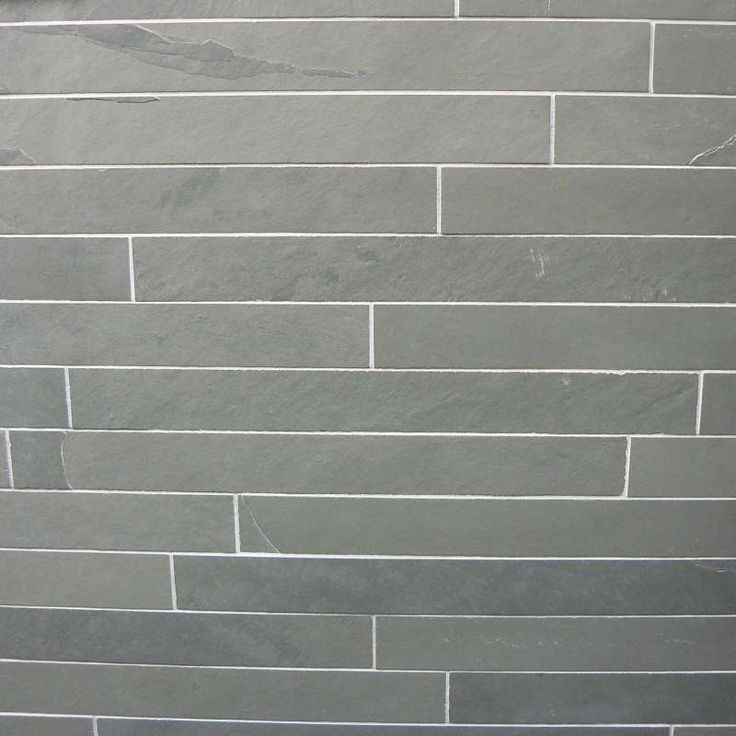 Brazilian Black Riven Slate Wall Cladding Strips 600x60 - Split face slate panels and slate strips are available in a great range of colours, formats and sizes from Mrs Stone Store.