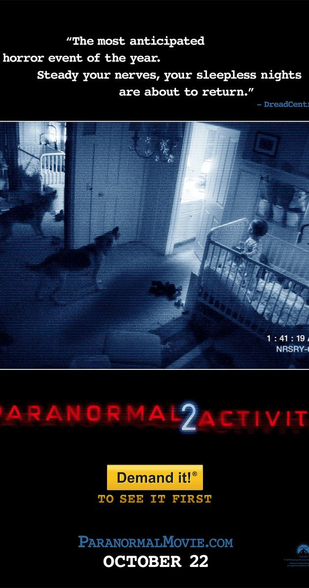 "Directed by Tod Williams.  With Katie Featherston, Micah Sloat, Molly Ephraim, David Bierend. After experiencing what they think are a series of ""break-ins"", a family sets up security cameras around their home, only to realize that the events unfolding before them are more sinister than they seem."