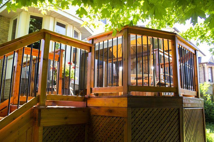 Cedar Deck - Black Railing - Outdoor Project - Renovation - Catalyst