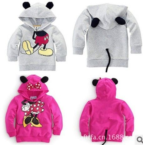 New 2014 Baby boys girls Mickey mouse Minnie mouse Clothing Boys outerwear Kids coats&jackers Fashion clotes Free Shipping 551