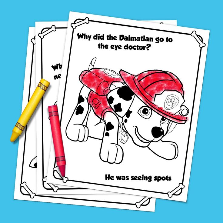 This printable PAW Patrol Joke pack will make your preschooler howl with laughter while coloring in their favorite pups!