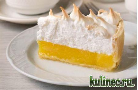 Лимонный пирог с воздушной шапочкой из меренги