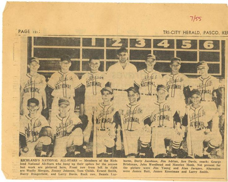 Tri Cities Washington >> Richland, WA Little League Baseball   JUST A BIT LIKE ME (Washington State, Tri-Cities, Richland ...