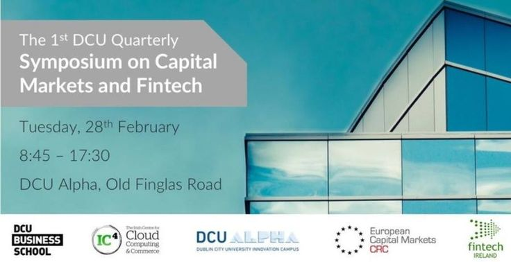 The recently established Finance Innovation Group at Dublin City University hosted its inaugural quarterly symposium on Capital Markets and Fintech at DCU Alpha on Tuesday, 28th February. Over 60 stakeholders operating in the financial services and technology sectors attended the one-day event to explore the future of banking, high frequency trading, cybersecurity and legal [ ]
