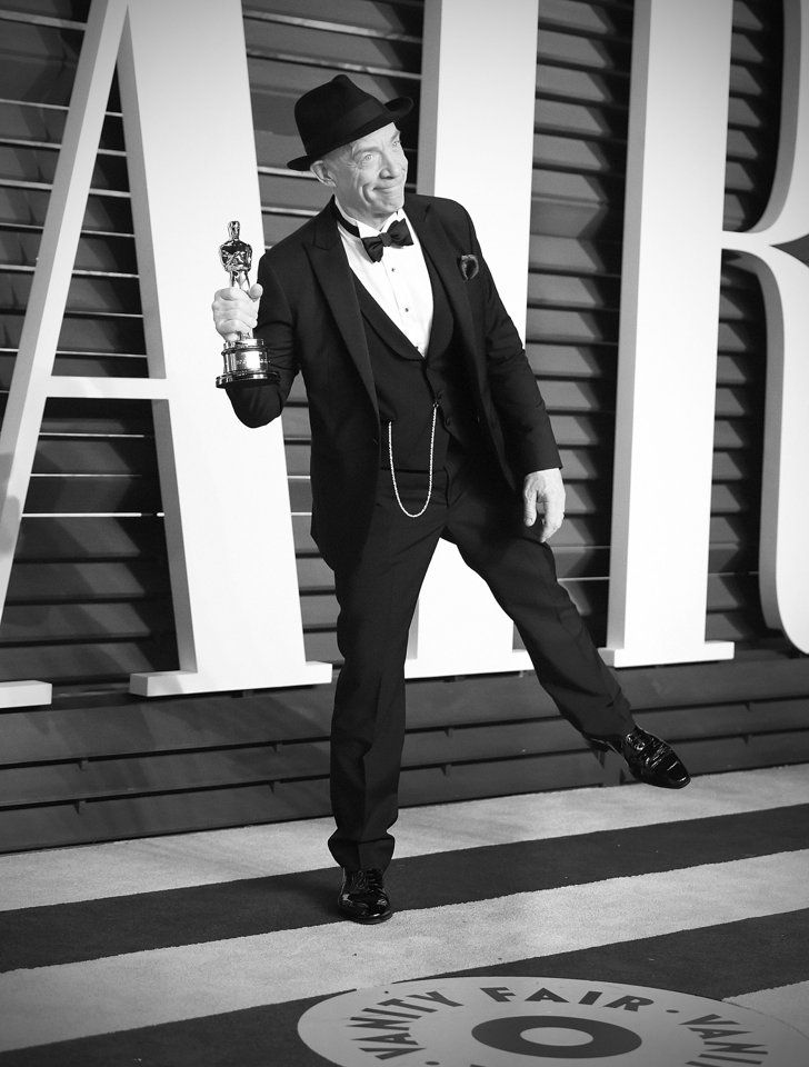 Pin for Later: Stunning Oscars Pictures You Haven't Seen Yet J.K. Simmons
