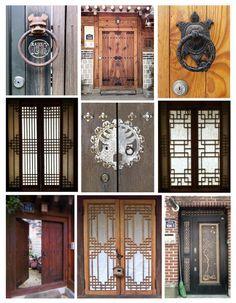 Doorways in Buk-chon, Seoul #PhotojournalismKorea #KoreanDesign