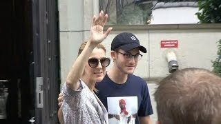 EXCLUSIVE : Celine Dion goes shopping with son Rene-Charles at Louis Vuitton in Paris