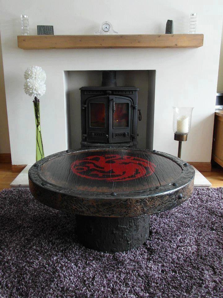 Handmade Game Of Thrones sigil coffee table. £300.00, via Etsy.