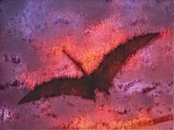 LOS PÁJAROS DE ESTÍNFALO// Terribles son los pájaros de Estínfalo: broncíneas garras y picos carroñeros y sobre todo su número imposible es de contar cuando se alzan en vuelo remontando siniestros en bandadas atronando los aires con graznidos hacen sea noche aun luzca el mediodía pues se oscurece el cielo tras sus alas. Simbolizan acaso esas ideas que asolan en la mente y que la inquietan con piares entre ellas… (Ver ➦)…