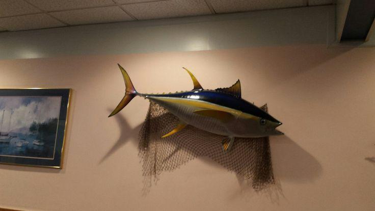Tuna that hangs in the Bay Breeze Seafood restaurant in Sanford, North Carolina.