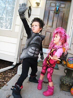 Shark boy & lava girl costume