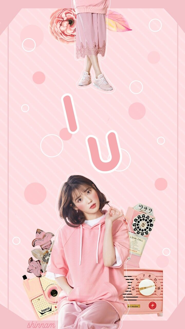 What S Your Opinion Model Iu Credits Hallyumi Bellacrix Iarasilva51 By Up10tion With Images Pink Posters Kpop Wallpaper Aesthetic Iphone Wallpaper