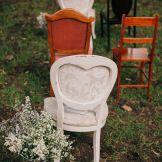 Heart Back chairs Country style wedding Kiama Bushbank | Owl + Pussycat Events