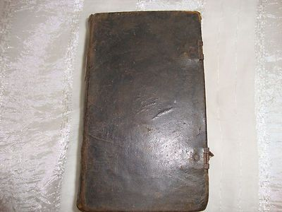 ANTIQUE GERMAN MARTIN LUTHER BIBLE OR PRAYER BOOK 1826 FROM PENNSYLVANIA
