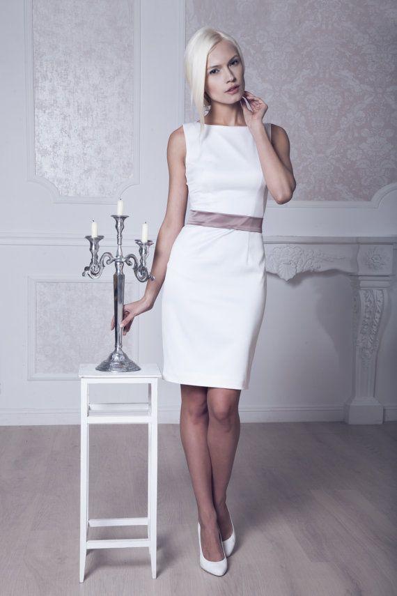 Style kurze Hochzeit Kleid, kurze Satin Hochzeitskleid, kurze Wedding Gown M39 eingebaut
