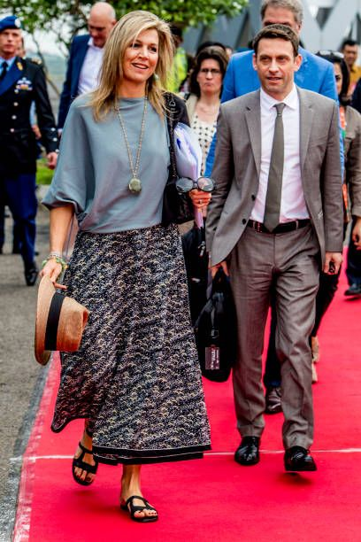 queen maxima of the netherlands visits corn farmers on february 12
