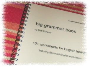 English Banana.com's Big Grammar Book. Free 101 pages for elementary kids. Lessons ascend in degree of difficulty.