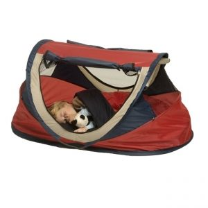 NScessity Deluxe UV Tent Red Large 2-5 years £75  Weight of tent (Kg): 3.4Kg  The UV Travel Centre when erect has the following dimensions (cm): 130 x 70 x 65cm  When folded and returned to carry case the dimensions are (cm):  46cm in diameter and 10cm thick when folded