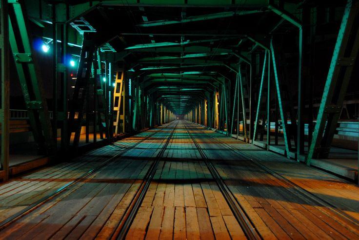 Most Gdański - poziom dolny - noc