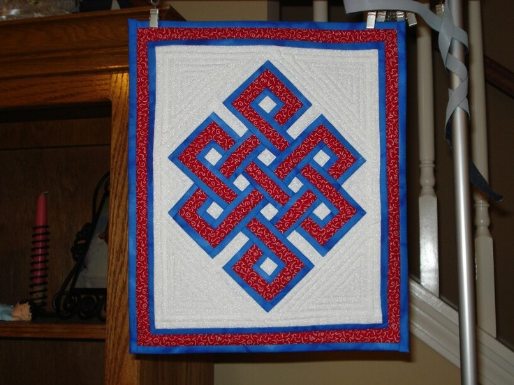 My Gordian Knot Mini Quilt Crafts My Quilts Pinterest Quilt Mini Quilts And Knots